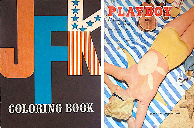 "The assassination of President Kennedy and his father's job at the company that printed ""Playboy"" influenced how author and antiques dealer Duane Scott Cerny (top) viewed objects and collectibles."