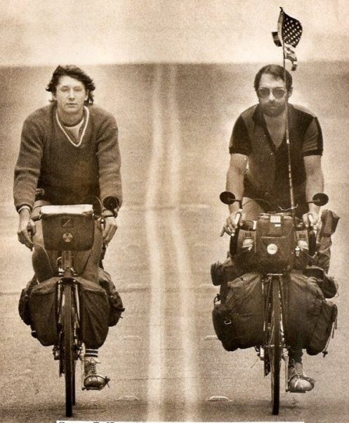 George Zaffle (left) and Larry Boyce on the road. Photo via Artistic License.