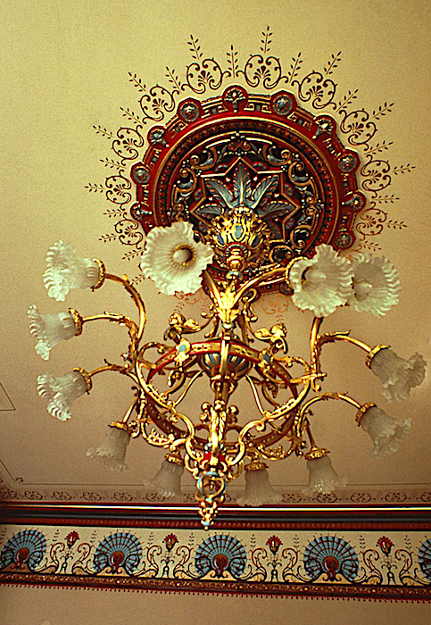 Decorative painting at the Kahn mansion, Salt Lake City. Photo by Ken Huse.