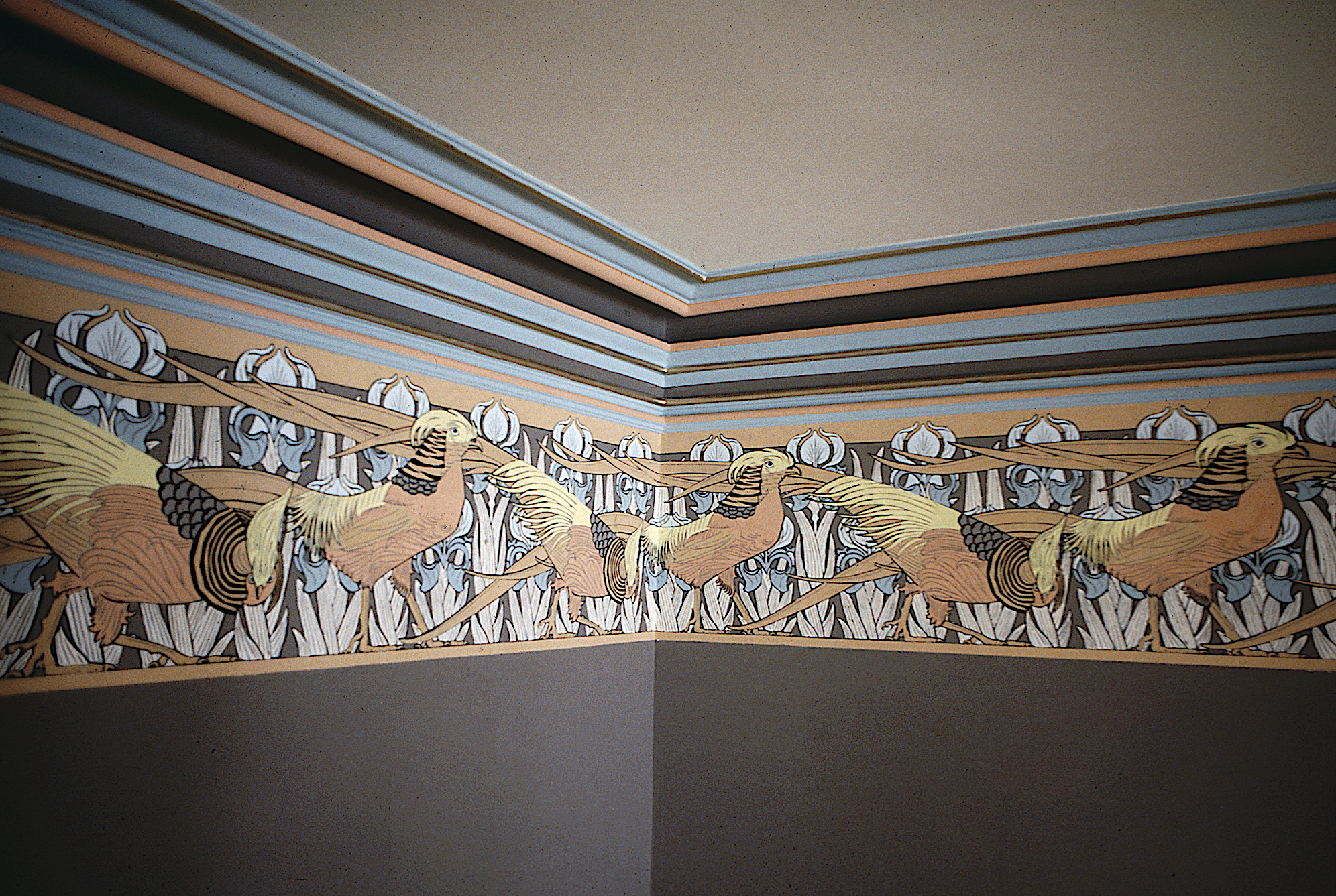 Frieze and crown molding detail at the Zen Center in San Francisco. Photo by Emma Wright.