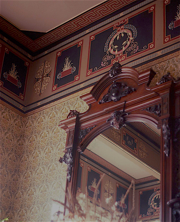 Painted frieze and other details at the Ann Starrett Mansion in Port Townsend, Washington. Photo by Ken Huse.