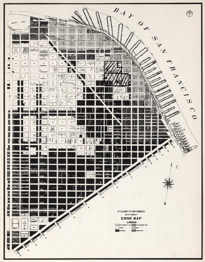 A map of downtown San Francisco zoning from 1948. Via the David Rumsey Map Collection.