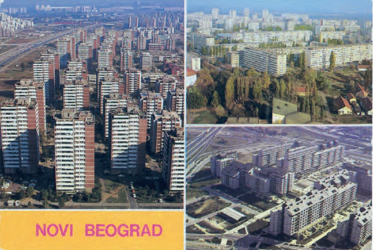 A 1980s postcard shows off socialist housing in Belgrade, Serbia. (© FUEL Publishing)