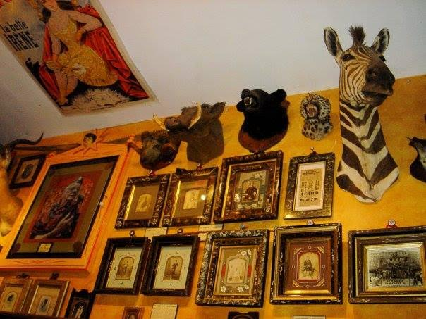 Cabinet cards and trophies adorned Johnny Fox's New York City museum, Freakatorium: El Museo Loco, which was open from 1999 to 2005. (Via Facebook)