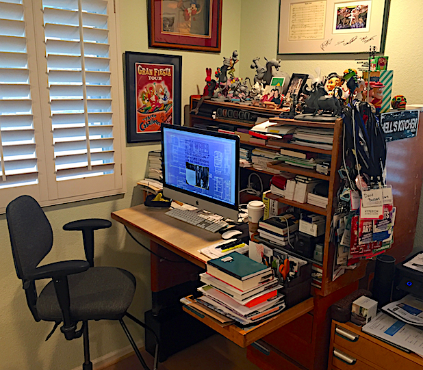 Former Disney animator Dave Bossert still uses his Kem Weber Compact Animator's Desk. Photo © Dave Bossert.