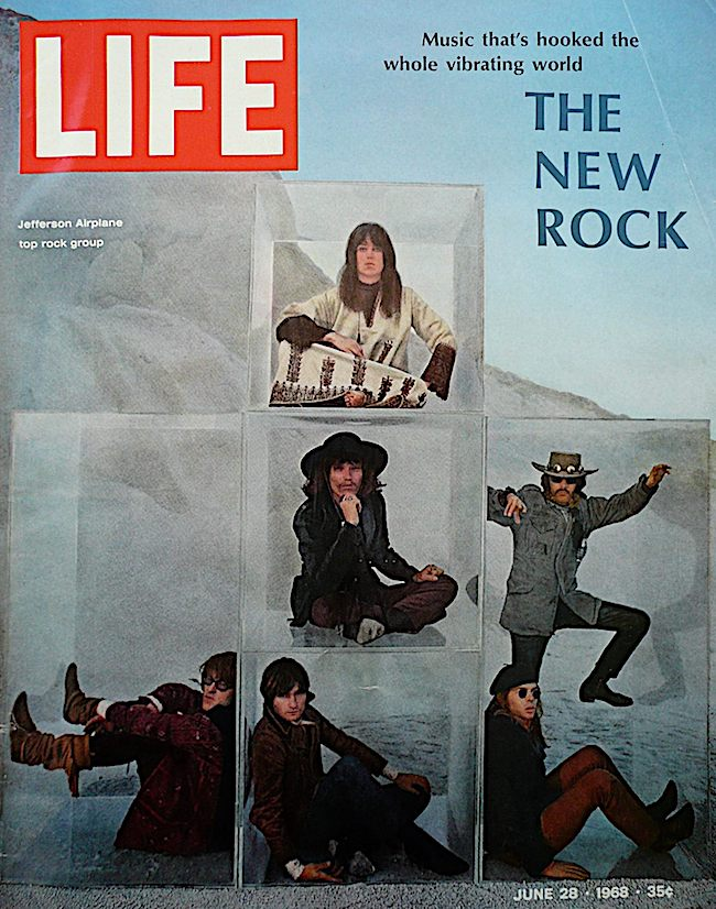 "By 1968, Kaukonen's personal life was a mess, but his musical life was flying high, as seen by the ""LIFE"" magazine cover. That's Kaukonen in the center cube."
