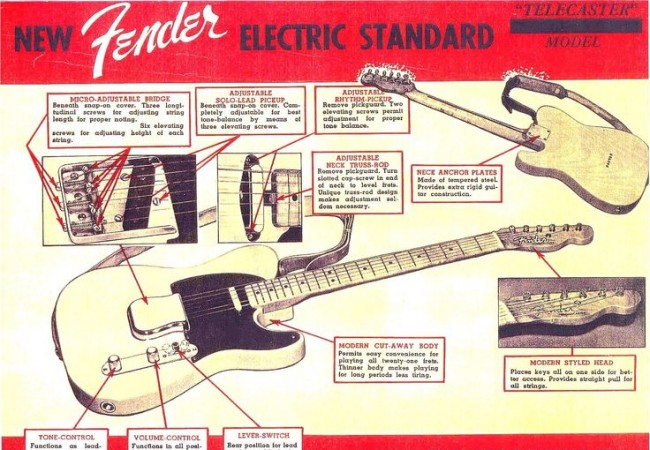 An early ad for the Telecaster