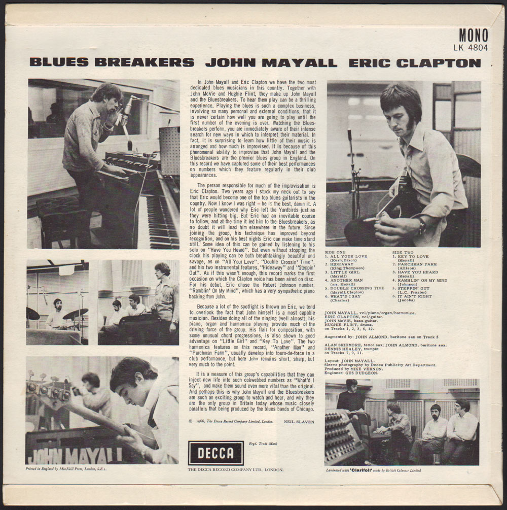 John Mayall back cover