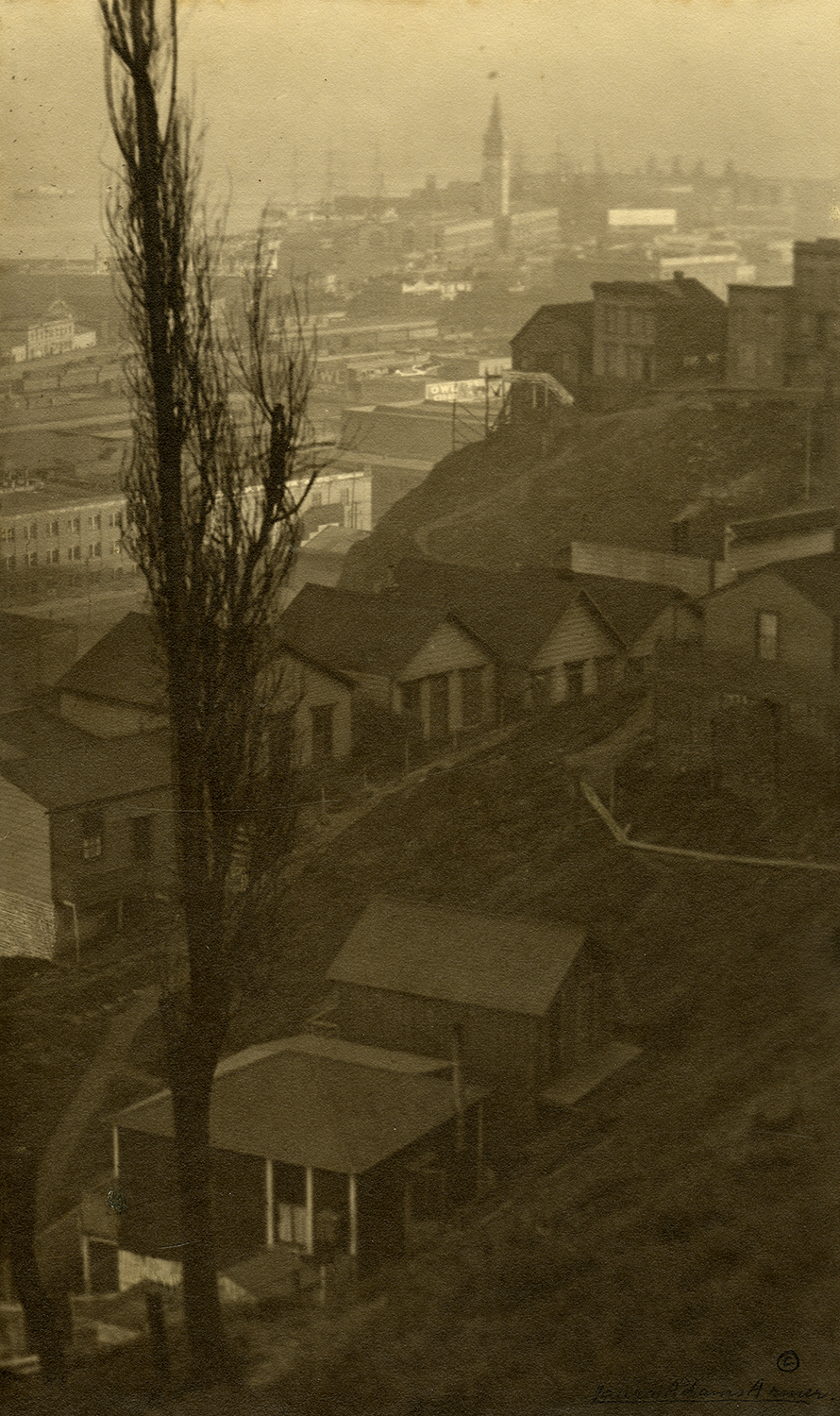 Telegraph Hill photographed by Laura Adams Armer around 1910. Courtesy the California Historical Society.