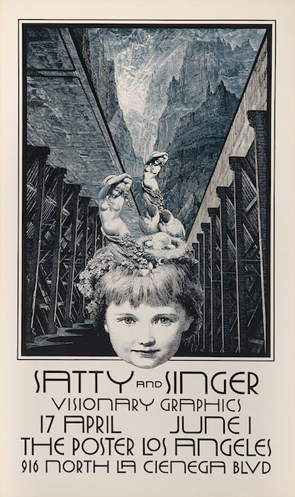 This poster, circa early 1970s, advertises the only joint show of work by Singer and Satty.