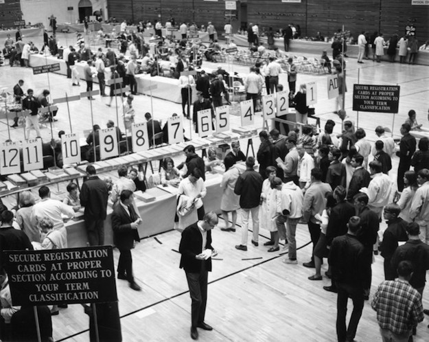 For David Singer, a small-town kid from Quakertown, Penn State University, where he attended collage for a year, seemed impossibly huge. This is what registration day looked like in the mid-1960s.