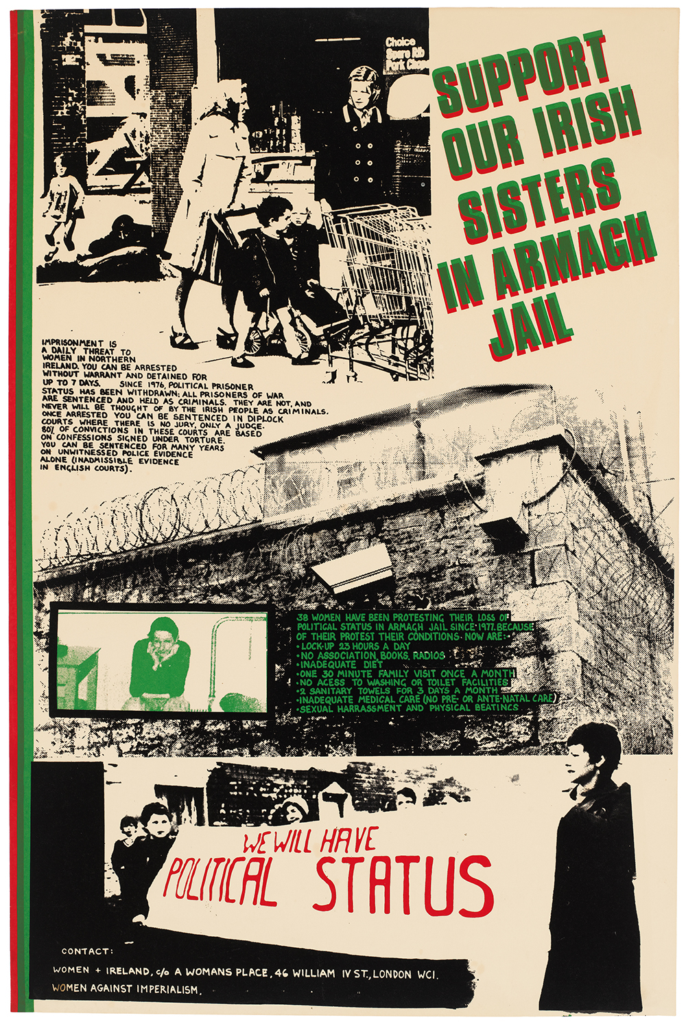 """Support Our Sisters in Armagh Jail"" poster from 1979-1980. © See Red Women's Workshop. (click to enlarge)"
