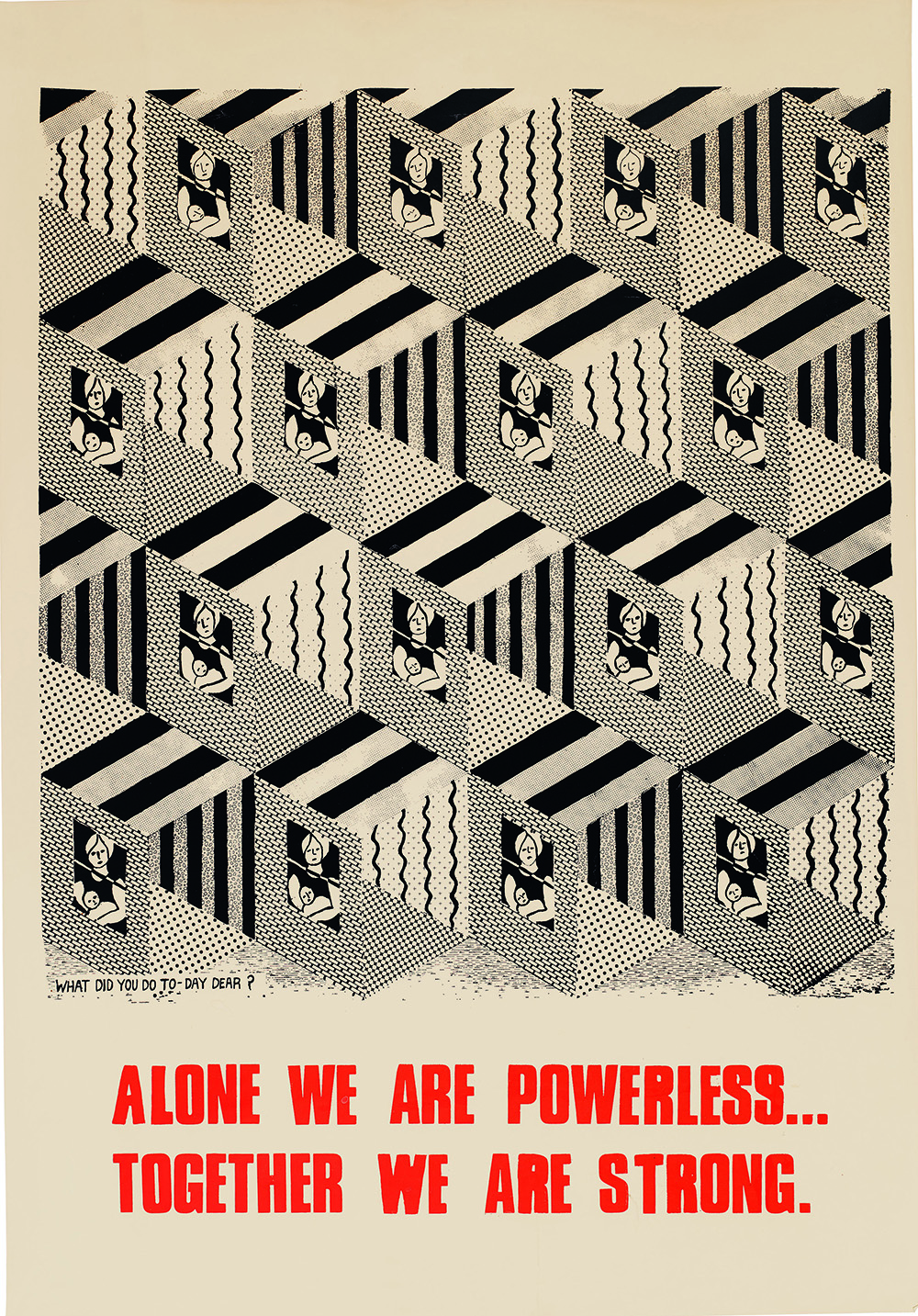 """Alone We Are Powerless Together We Are Strong"" poster from 1976. © See Red Women's Workshop."