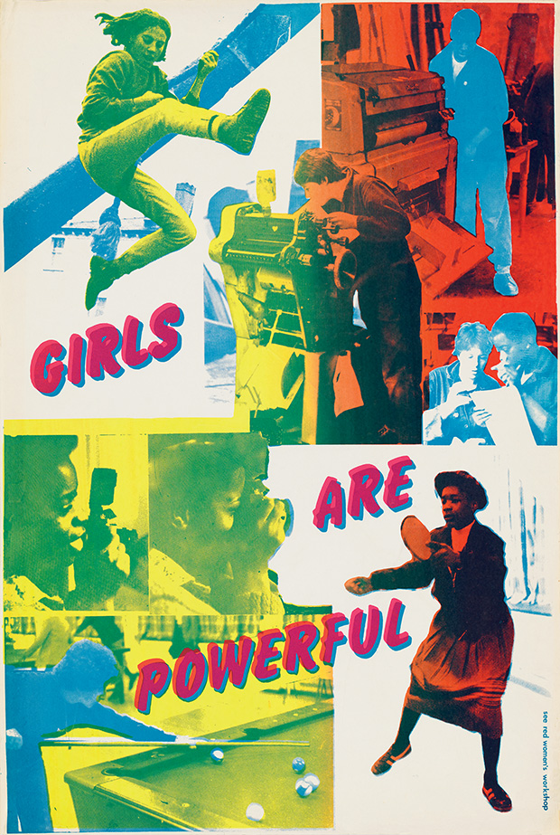 """Girls Are Powerful"" poster from 1979. © See Red Women's Workshop."