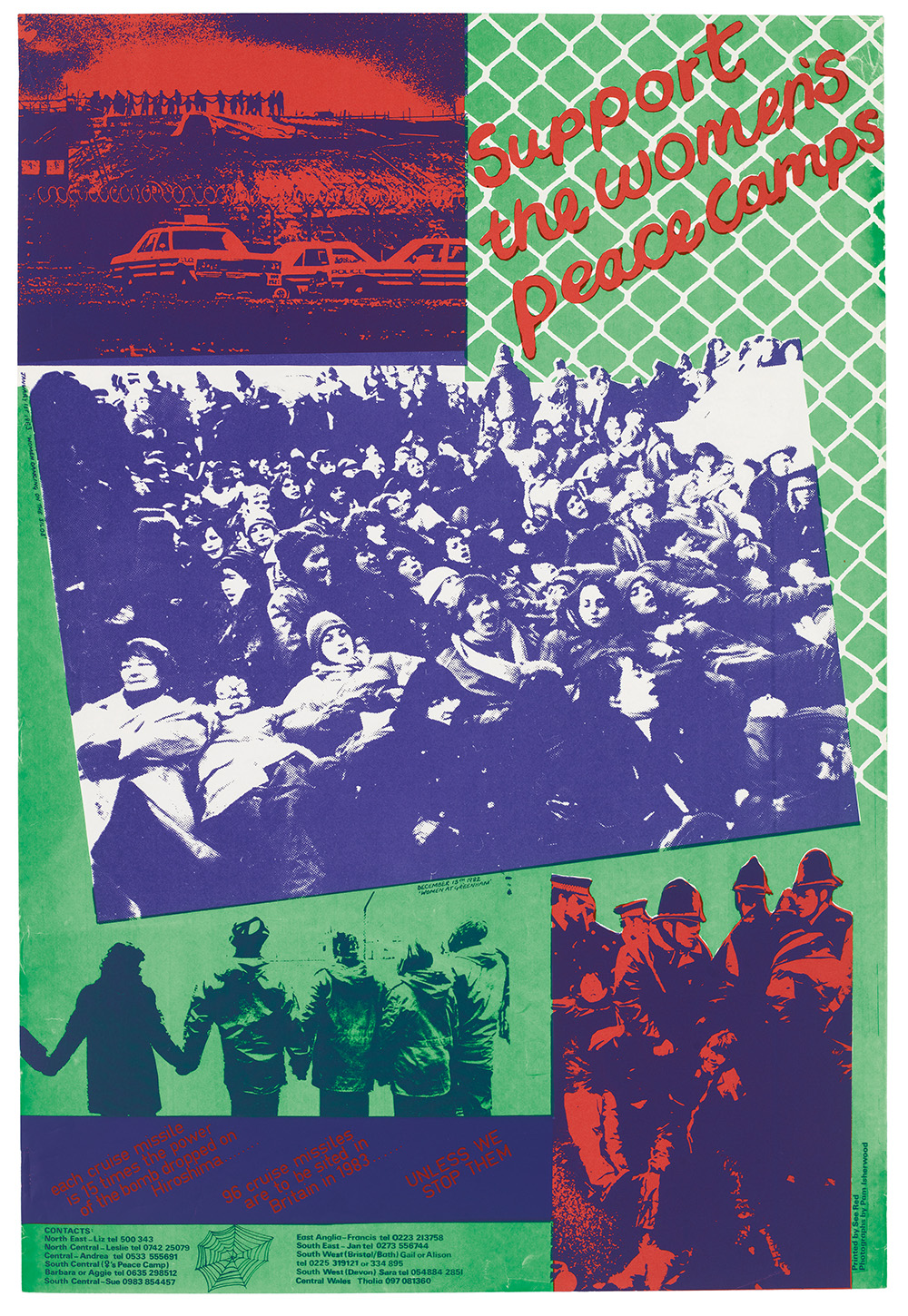 """Support the Women's Peace Camps"" poster from 1983. © See Red Women's Workshop. (click to enlarge)"