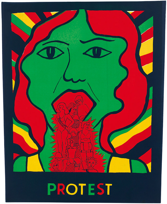 "See Red's ""Protest"" poster from 1973. © See Red Women's Workshop."