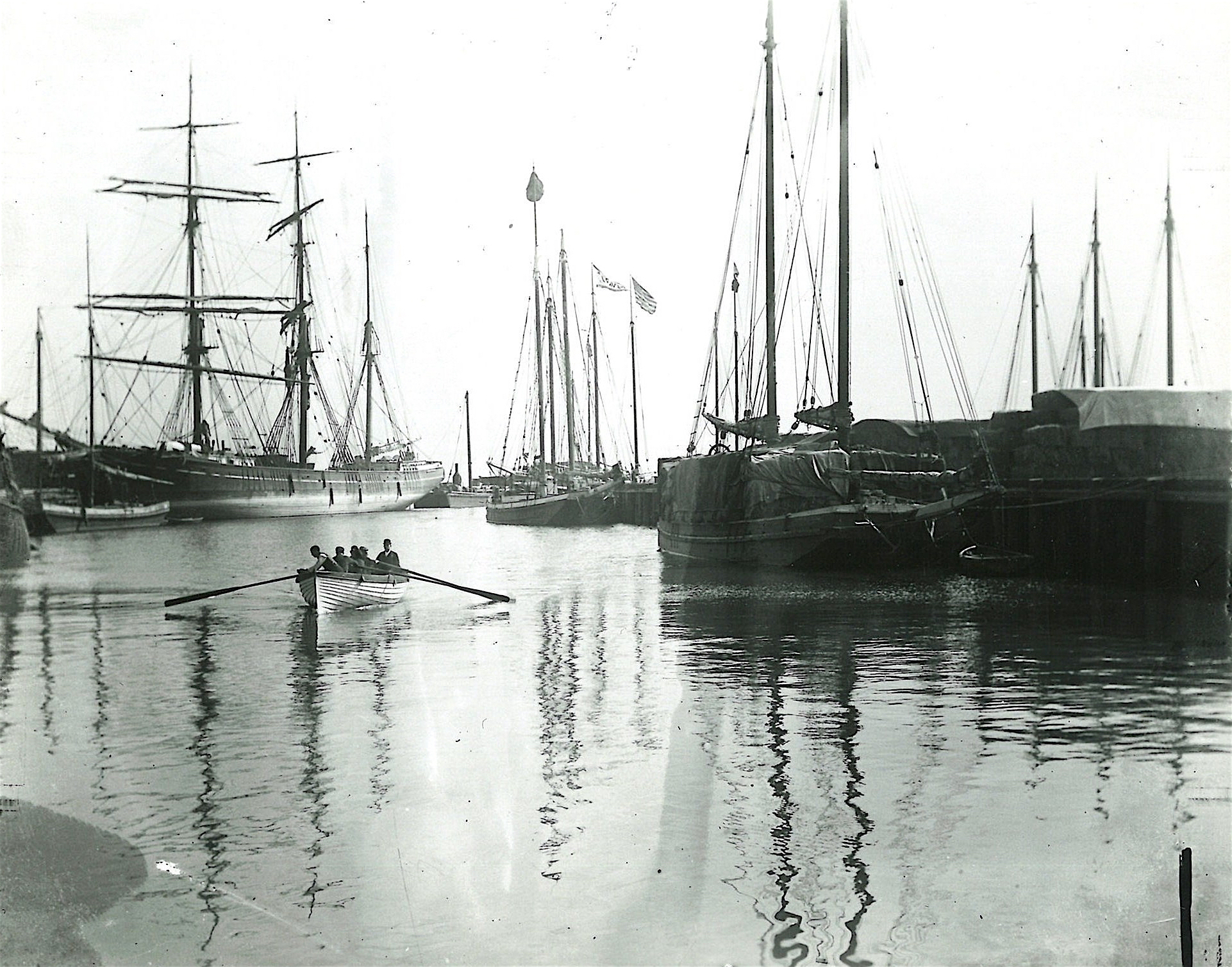 San Francisco harbor in the 1880s.