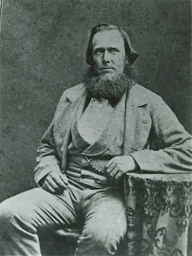 Matthew Turner at age 28, shortly after retiring from the life of a gold prospector.