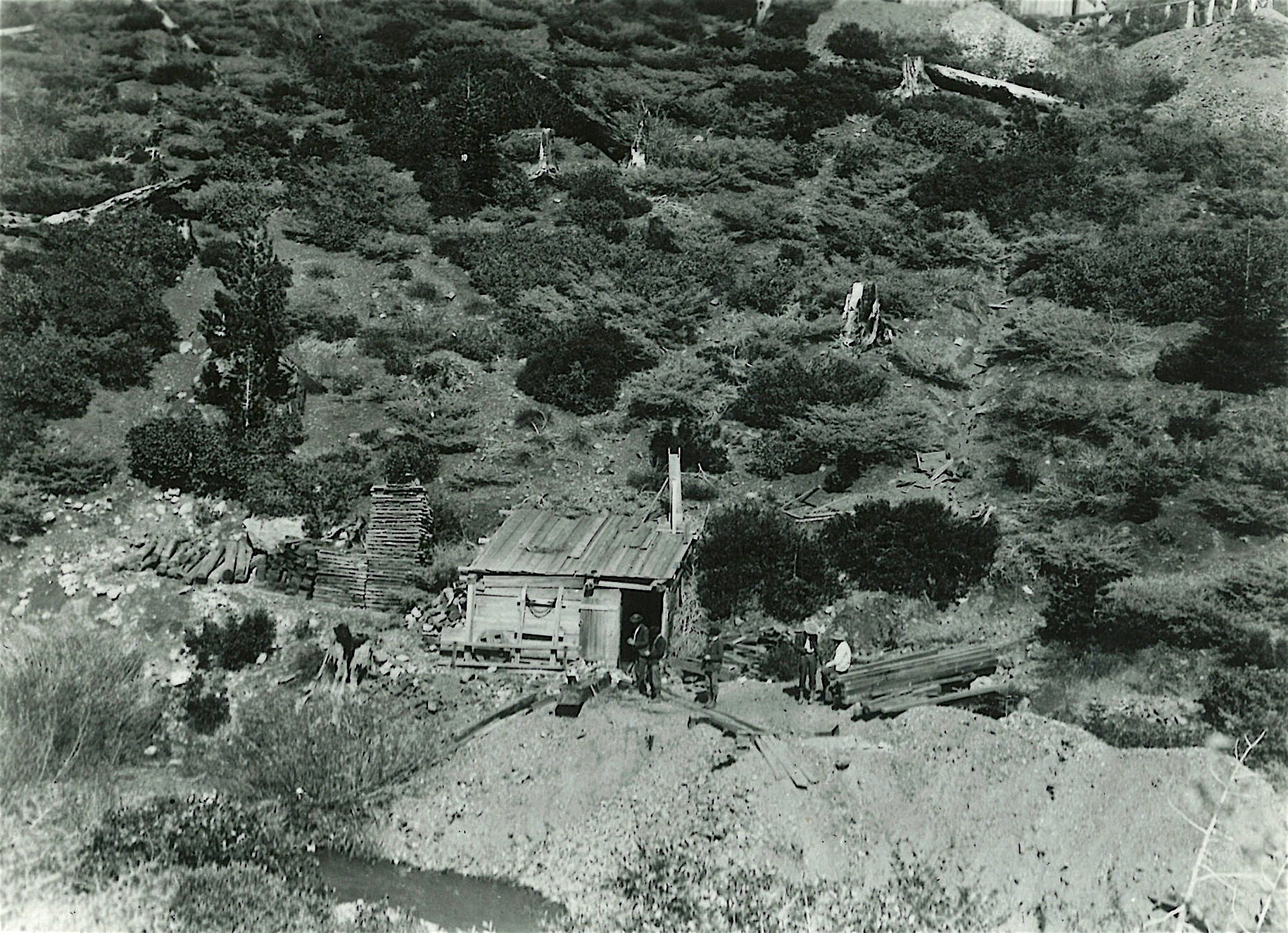 From 1852 to 1853, Matthew Turner and Richard Rundle were partners in this gold mine at Big Oak Flat.