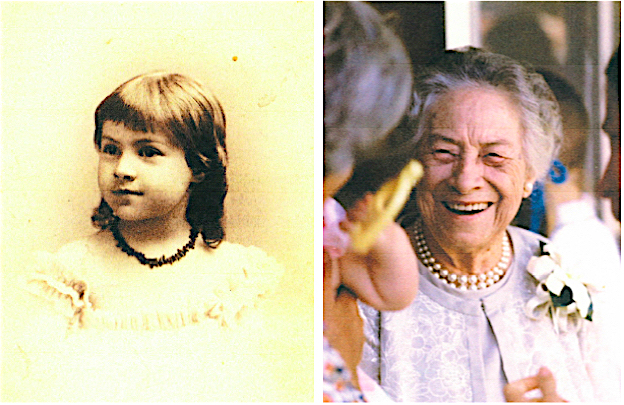 Little Eva at age 5 in 1894 and age 84 in 1973. She lived to be 97.