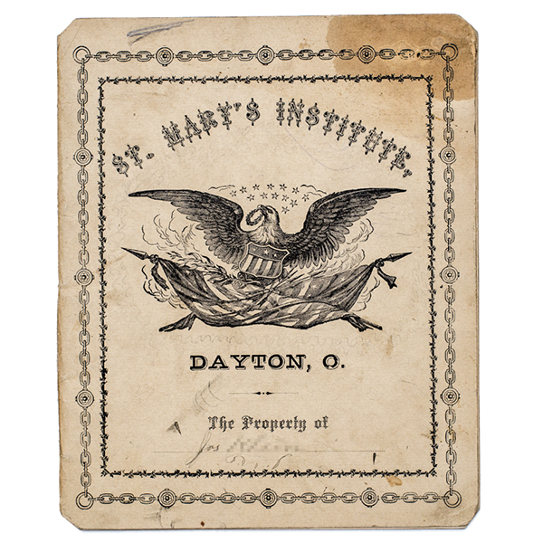 A workbook from Dayton, Ohio, c. 1883.
