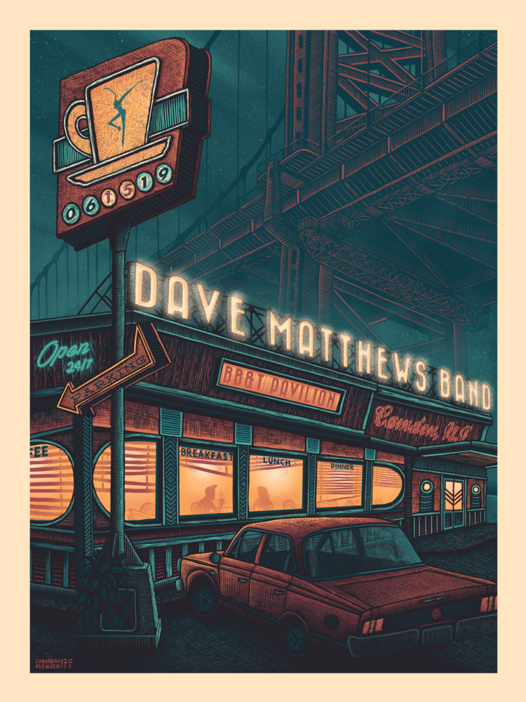 Dave Matthews Band, June 15, 2019, at BBT Pavilion, Camden, New Jersey.