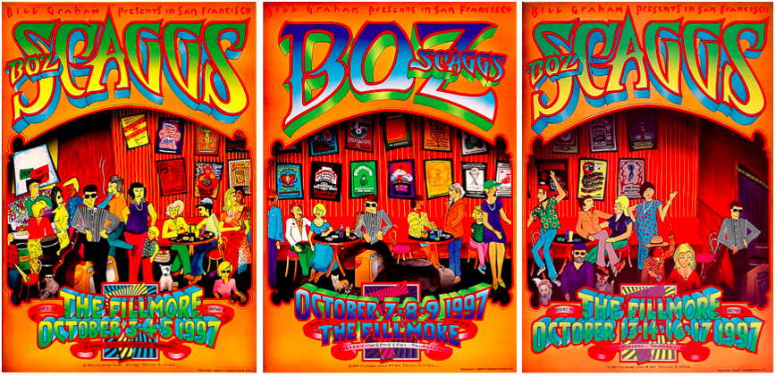 Boz Scaggs, October 3-17, 1997, The Fillmore.