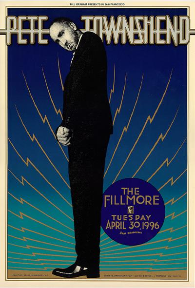 Pete Townshend, April 30, 1996, The Fillmore.