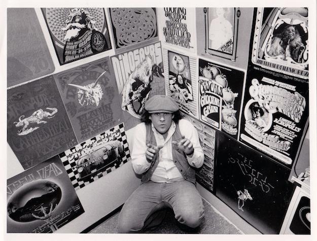 Randy Tuten, circa 1982, at an exhibition of rock posters in San Francisco.