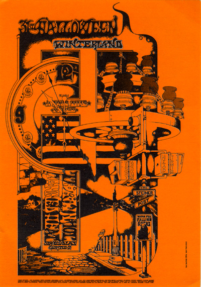 Tuten designed this poster for a Canned Heat show at Winterland, presented by the Family Dog on October 31, 1968, but within a few months he'd be working for Bill Graham.