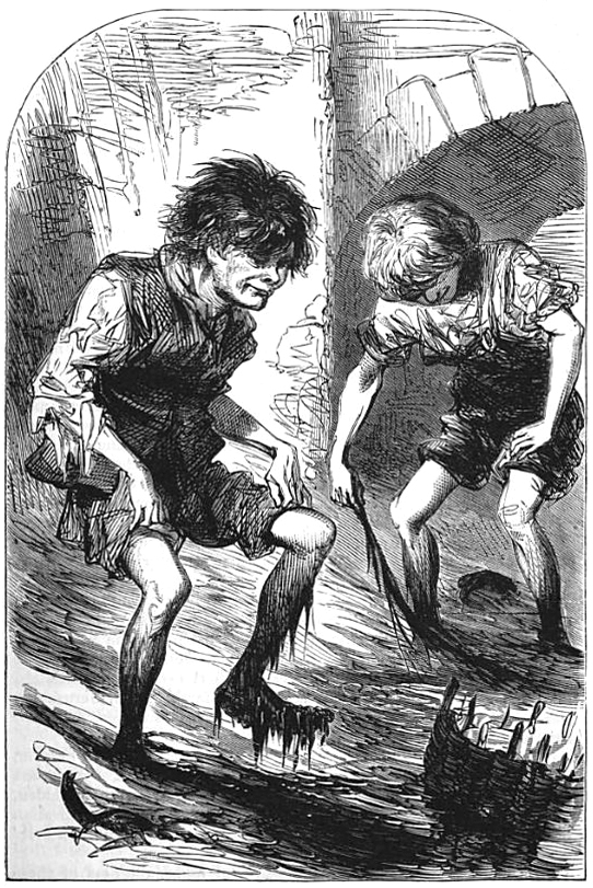 "Victorian-era mudlarks, as depicted in ""The Headington Magazine"" in 1871. Courtesy Wikimedia."