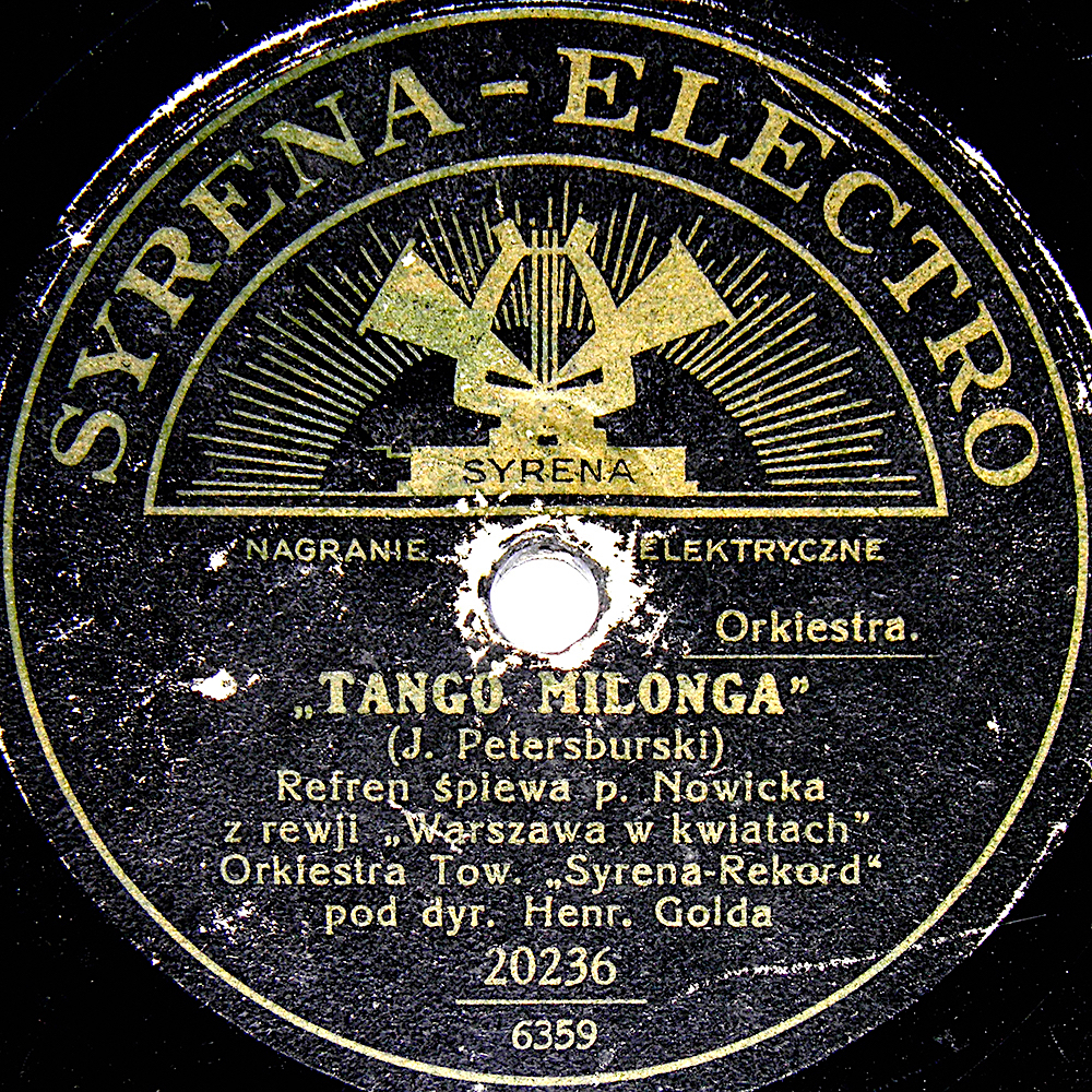 Tango Milonga was interwar Poland's biggest tango hit. Via staremelodie.pl.