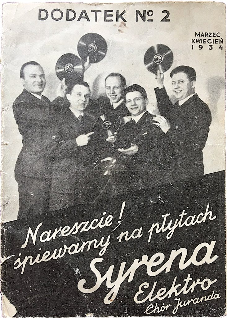 Syrena-Electro was Poland's premier manufacturer of Polish tango records between World War I and II. This catalog is from 1934. Courtesy Juliette Bretan.