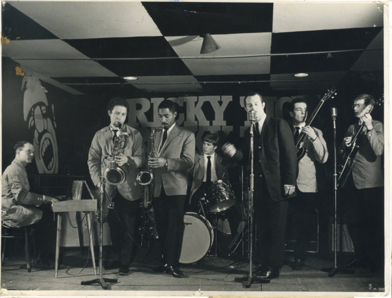 Hogsnort Rupert and his Good Good Band, performing at Ricky-Tick in Clewer Mead, Windsor, circa February or March, 1965. Photo courtesy Bob McGrath.