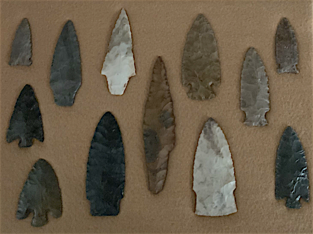 One of the things Jeff Foxworthy has collected over the years are arrowheads, all of which he's dug up himself. Photo courtesy Jeff Foxworthy.