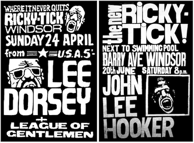 "Lee Dorsey (""Working in the Coal Mine"") and John Lee Hooker (""Boom Boom"") are just two of the American R&B and blues acts who performed at Ricky-Tick."