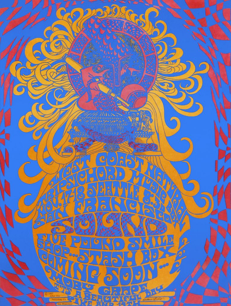 Wallace-Cohen's first poster for a San Francisco Sound show in Seattle, November 17-18, 1967.