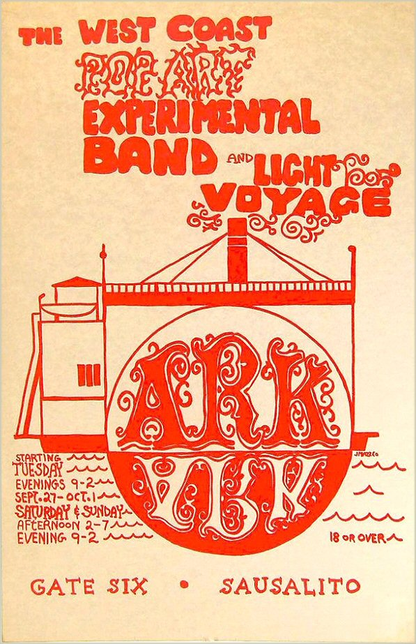 In the mid-to late 1960s, the Ark at Gate Six in Sausalito hosted rock concerts. Wallace-Cohen lived on a houseboat at nearby Gate Five.