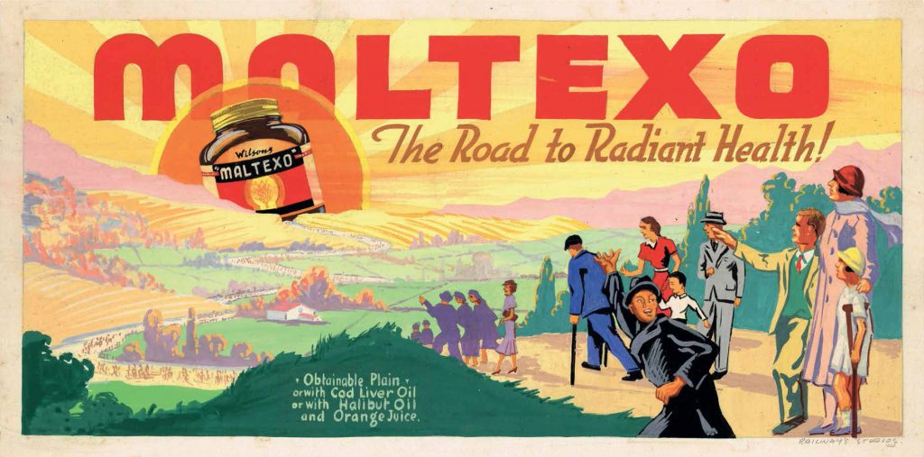 Original design for Maltexo billboard, c. 1940.