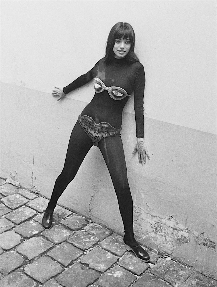 Bjerke's crochet bikini was so revealing, the model hired by Mia and Vicky in 1969 was instructed to wear black leotards underneath.