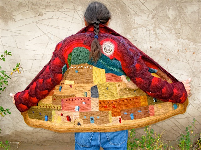 "Bjerke's ""Adobe"" jacket from 2008 features the colors and architecture of her home in New Mexico."
