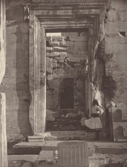 """Example of carbon print. William James Stillman, """"The Acropolis of Athens, plate 21,"""" 1869/1870. 9 1/2"""" x 7 5/16"""" (image)."""
