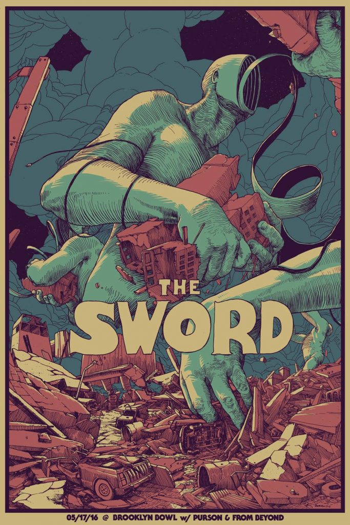 The Sword at the Brooklyn Bowl, May 17, 2016, by Dave Kloc.