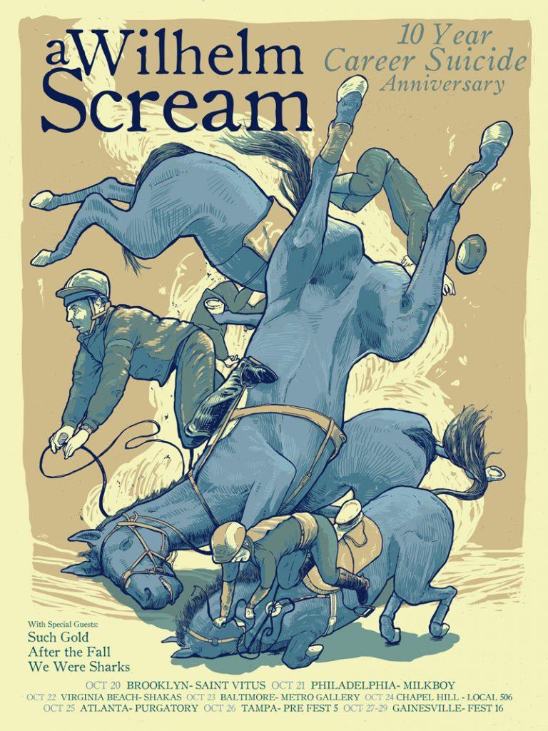 Wilhelm Scream tour poster, October 2016, by Dave Kloc.