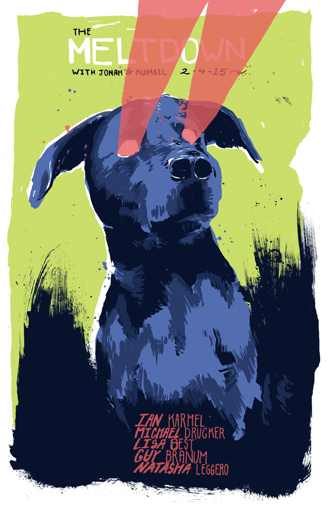 Meltdown poster, February 4, 2015, by Dave Kloc.